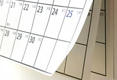 ご利用の流れ 作業日決定のイメージ